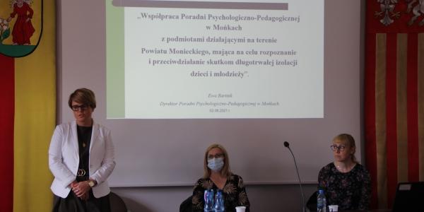 Spotkanie Poradni Psychologiczno – Pedagogicznej w Mońkach z placówkami pomocy społecznej z terenu powiatu monieckiego